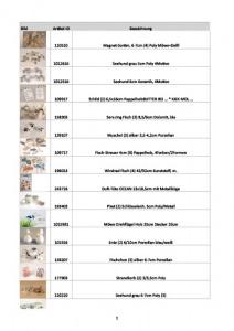 Liste mit weiteren maritimen Dekoartikeln